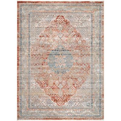 Emmarie Withered Wreath Gray 4 ft. x 6 ft. Area Rug