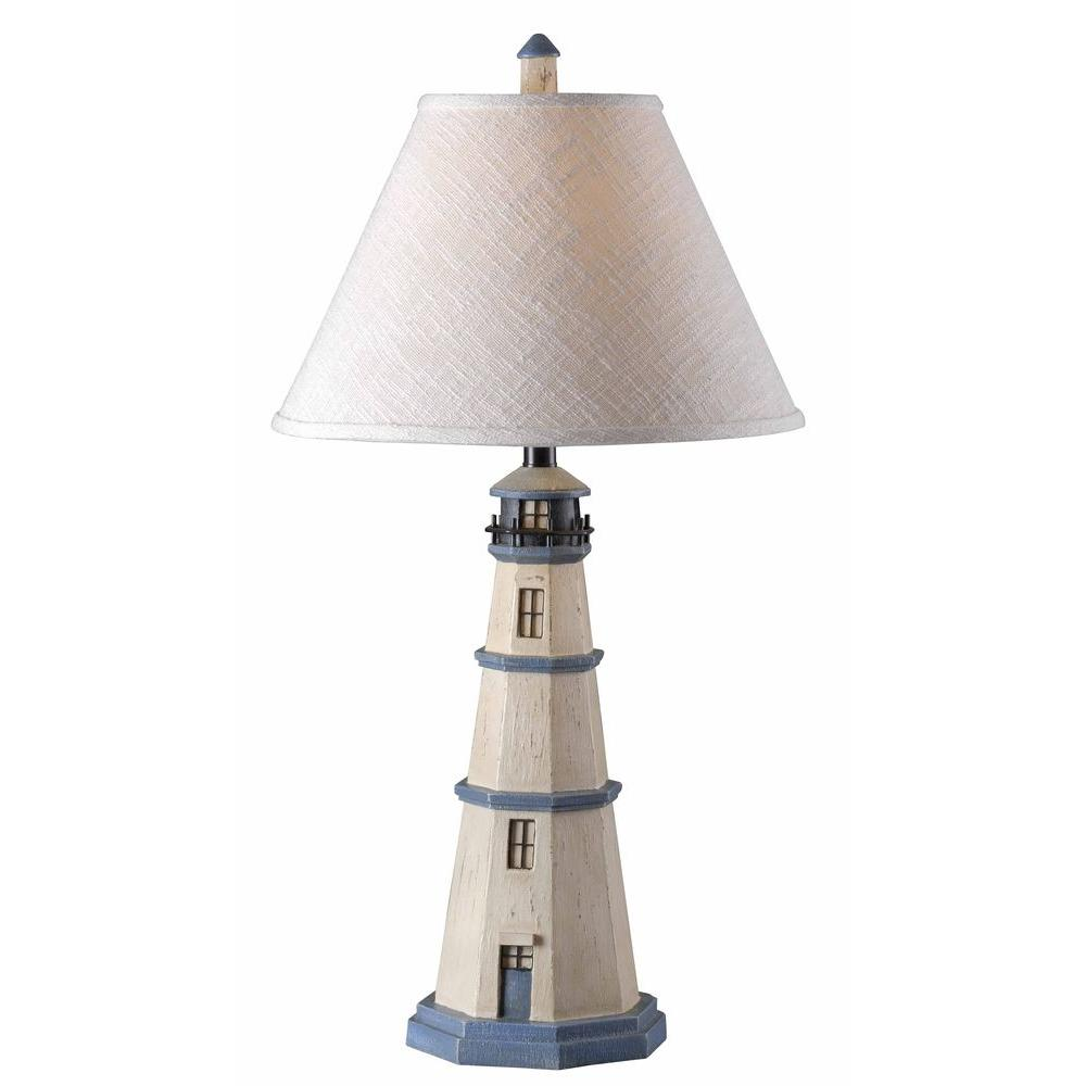Kenroy home nantucket 32 in antique white table lamp 20140aw the antique white table lamp aloadofball Images
