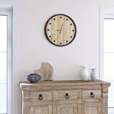 Bastide du Provence Black Planked Wall Clock