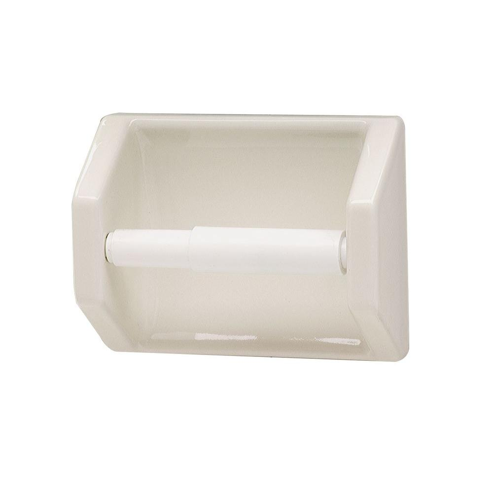 Lenape Toilet Paper Holder In Bone 177217 The Home Depot