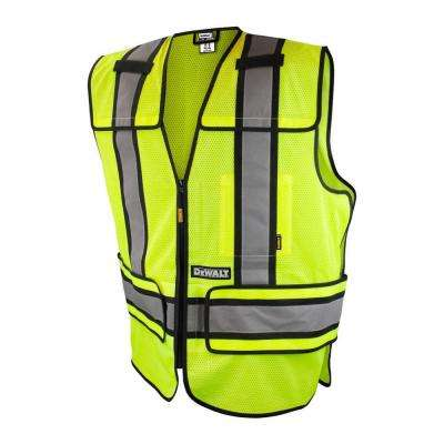 4X-Large/5X-Large High Visibility Green Adjustable Breakaway Vest