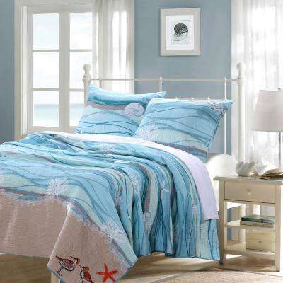 Maui 3-Piece Multicolored Full and Queen Quilt Set