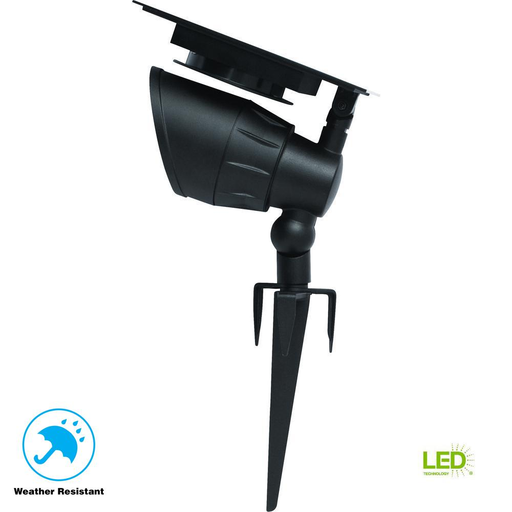 Hampton Bay Solar Powered Integrated Led Black Landscape: Hampton Bay Solar Black Outdoor Integrated LED Warm White