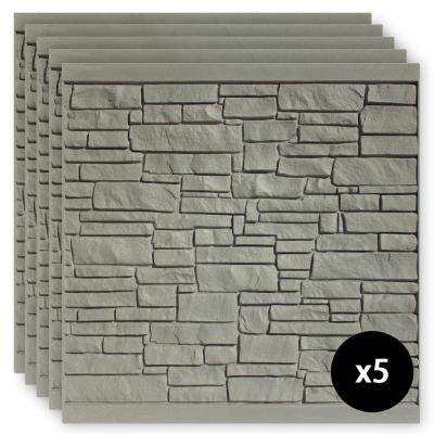 6 ft. x 6 ft. EcoStone Gray Composite Fence Panel Pack