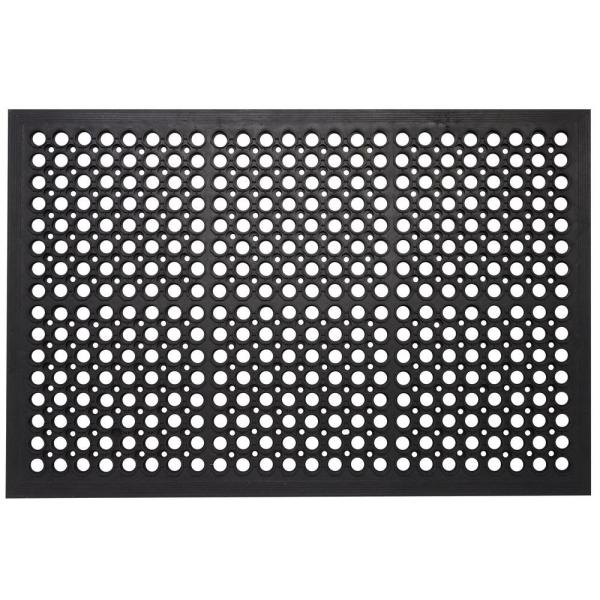 Indoor Outdoor Mats Durable Anti-Fatigue 36 in. x 24 in. Commercial Home Restaurant Bar Drainage Rubber Floor Mat
