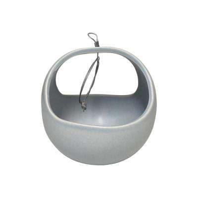 Basket 4-1/2 in. x 4-1/2 in. Sky Ceramic Hanging Planter