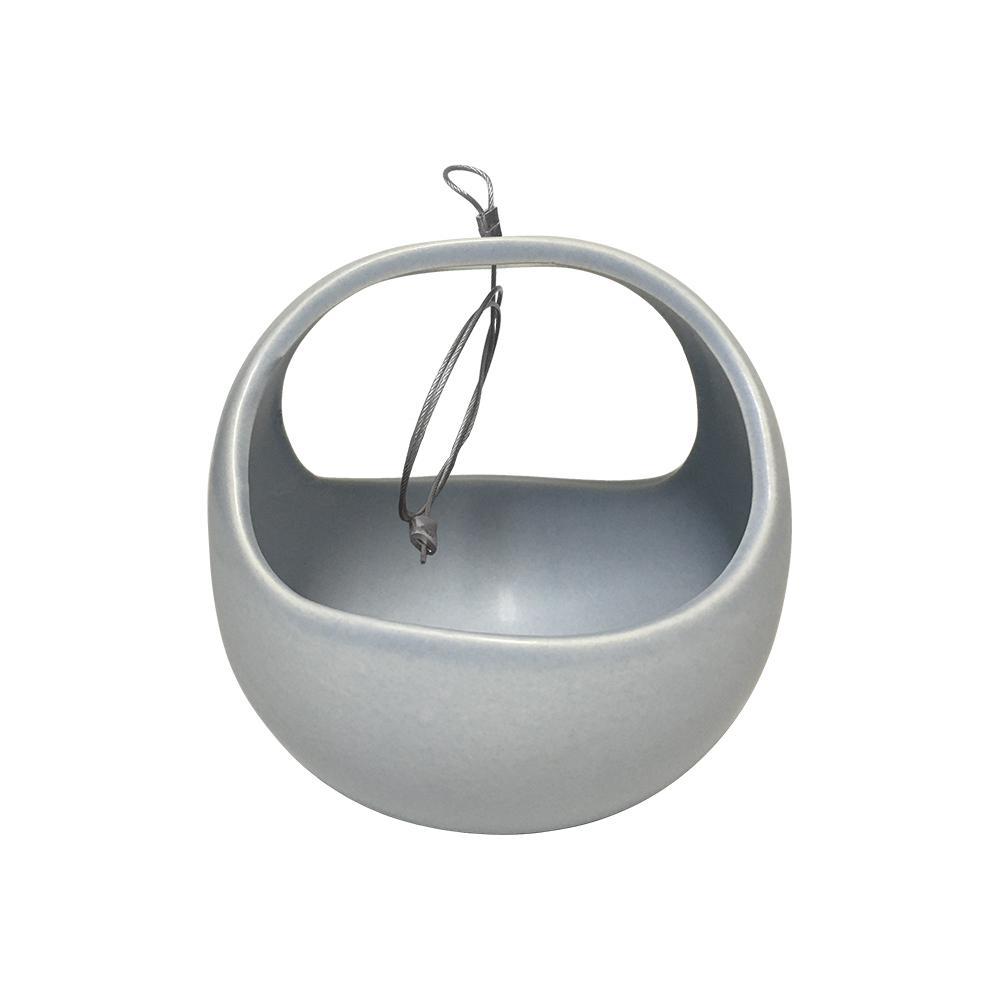 Basket 4-1/2 in. x 4-1/2 in. Sky Ceramic Hanging Planter