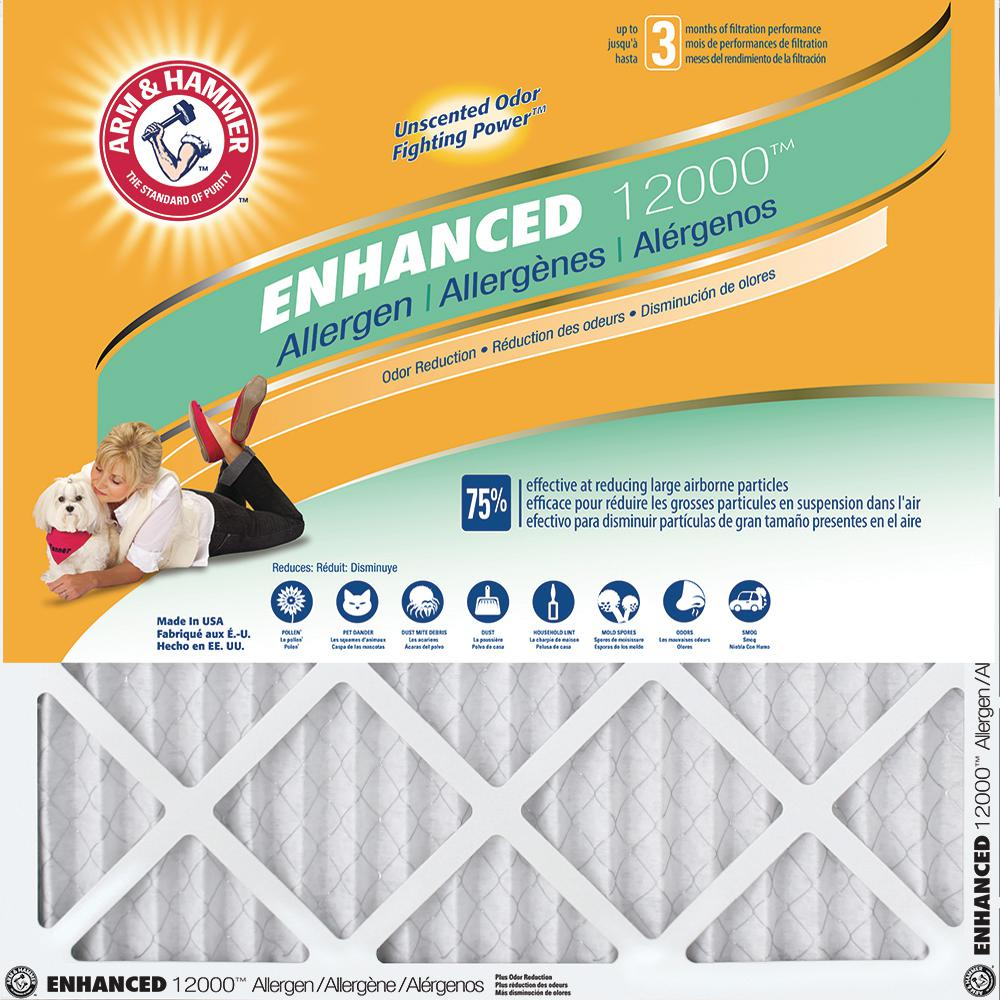 Arm & Hammer 14 in. x 25 in. x 1 in. Enhanced Allergen and Odor Control FPR 6 Air Filter (4-Pack)