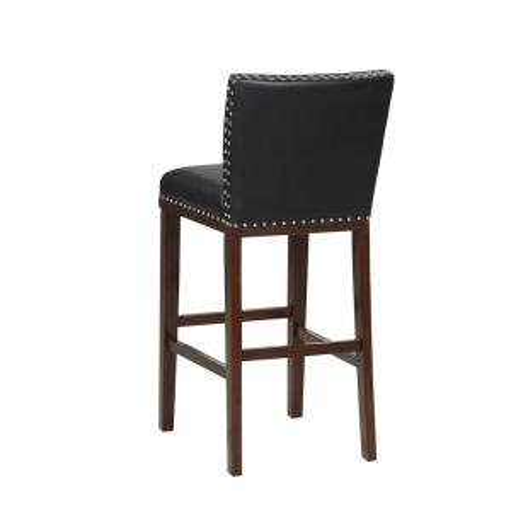 Amazing Tiffany 30 In Black Contemporary Bar Stool Set Of 2 Ibusinesslaw Wood Chair Design Ideas Ibusinesslaworg
