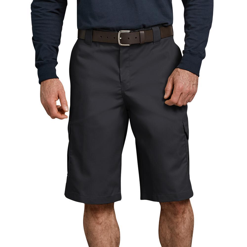 Men's Black Flex 13 in. Relaxed Fit Cargo Short