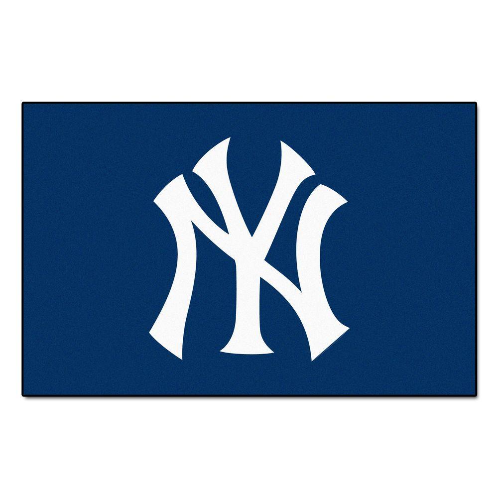 MLB New York Yankees 1 ft. 7 in. x 2 ft. 6in. Starter Mat Area Rug