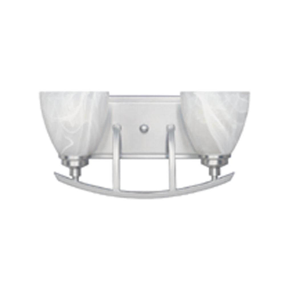 Manhattan 2-Light Satin Platinum Wall Light