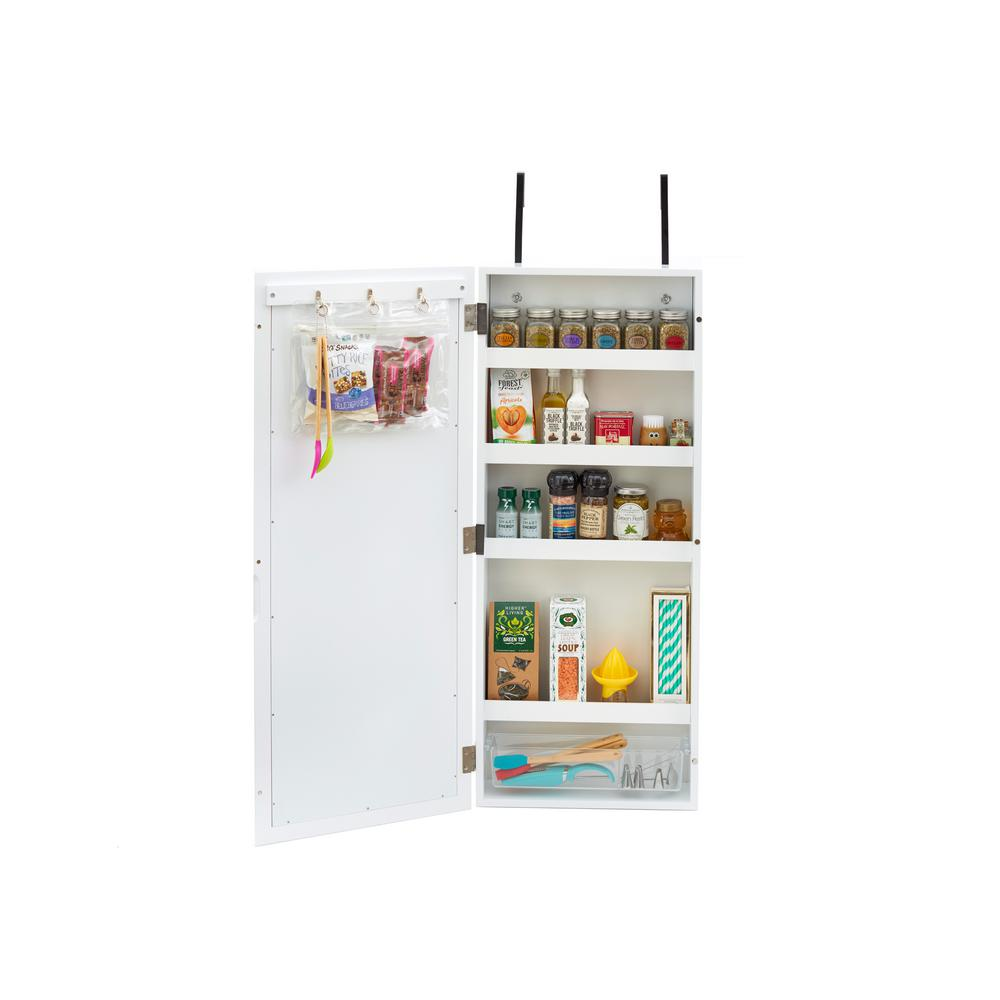 InnerSpace Luxury Products White Wall Cabinet Organizer with ...