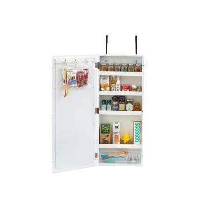 White Wall Cabinet Organizer with Chalkboard