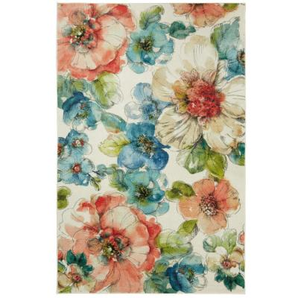 Summer Bloom Garden 8 ft. x 10 ft. Floral Area Rug