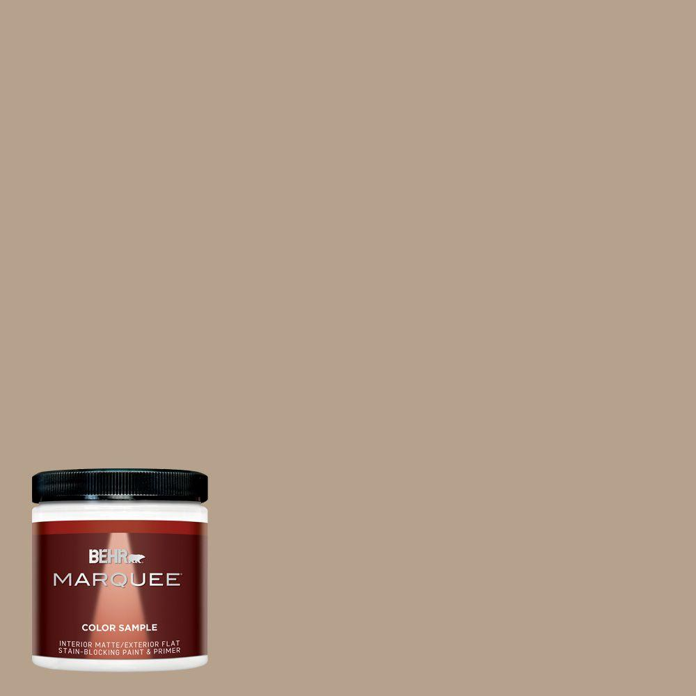 8 oz. #MQ2-47 Midtown Matte Interior/Exterior Paint and Primer in One