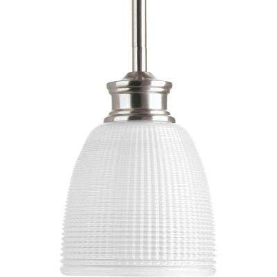 Lucky Collection 1-Light Brushed Nickel Mini-Pendant