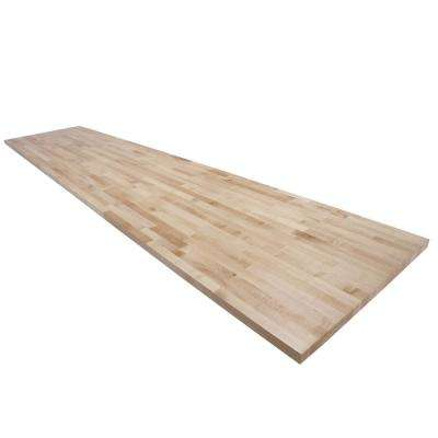 12 ft. L x 2 ft. 6 in. D x 1.5 in. T Butcher Block Countertop in Finished Maple