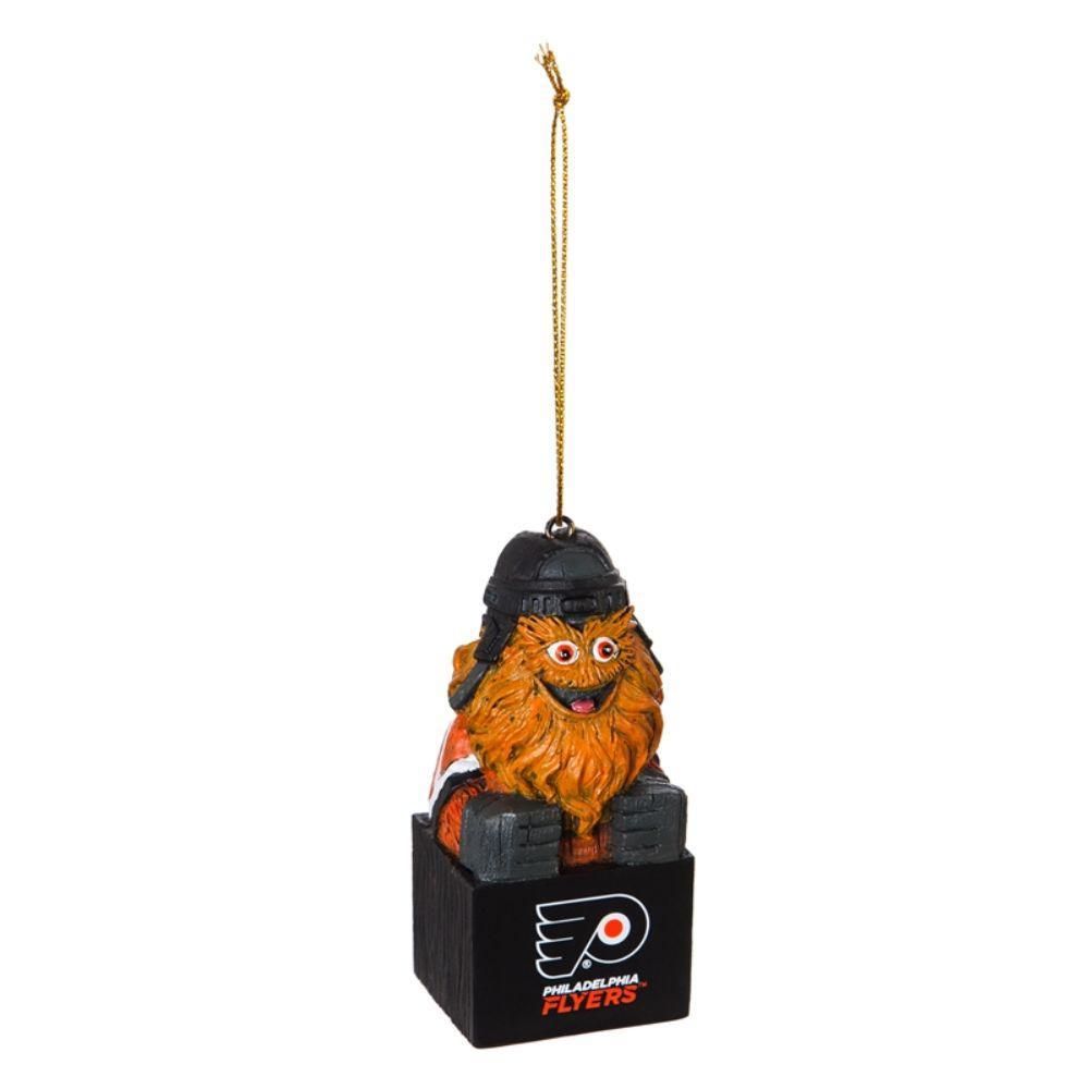 Philadelphia Flyers 1-1/2 in. NHL Gritty Mascot Tiki Totem Christmas Ornament