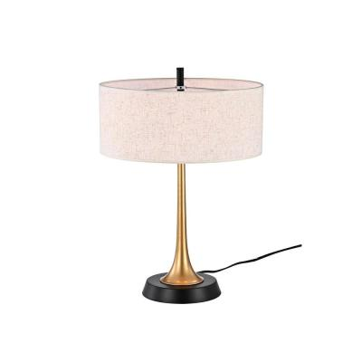 Lilie 22 in. 2-Light Indoor Gold and Black Chandelier with Light Kit
