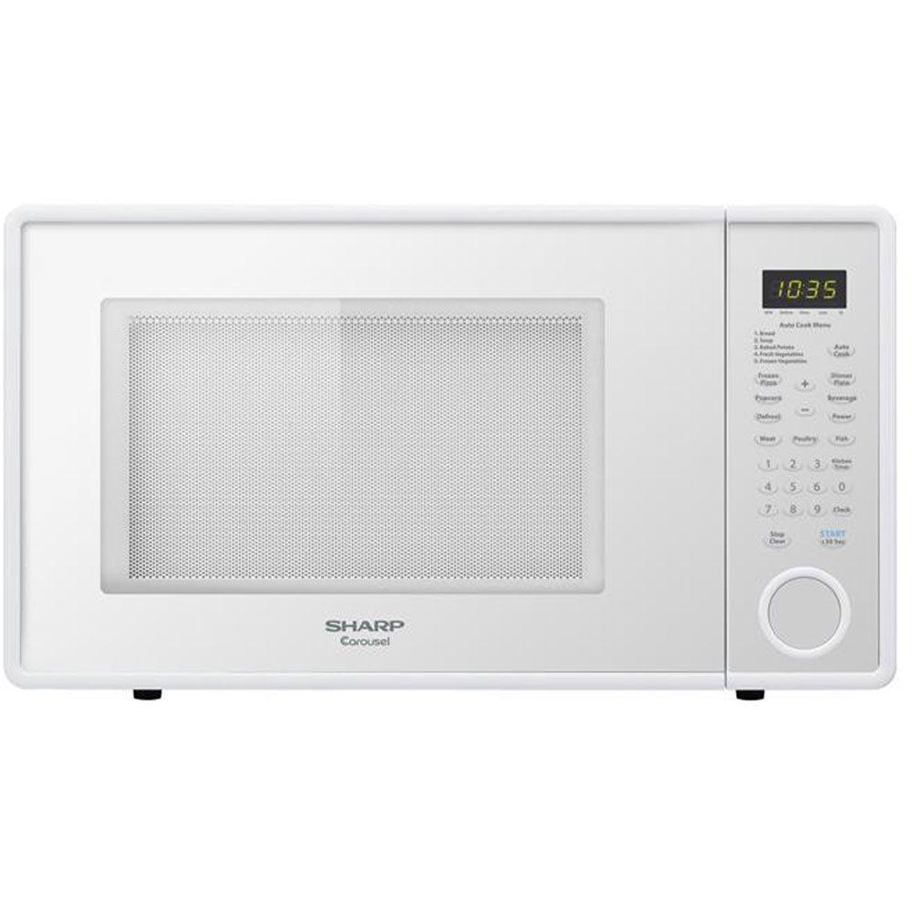 Sharp Sharp 1.3 cu. ft. Countertop Microwave in Smooth White-DISCONTINUED