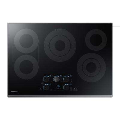 30 in. Ceramic Electric Cooktop in Black Stainless with 5 Elements including Rapid Boil with Wi-Fi