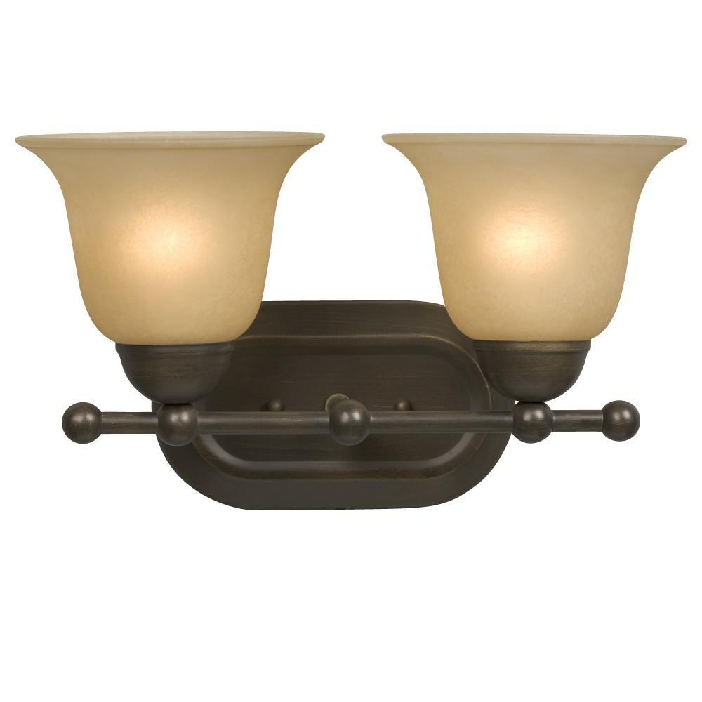 Filament Design Negron 2-Light Oil Rubbed Bonze Incandescent Bath Vanity