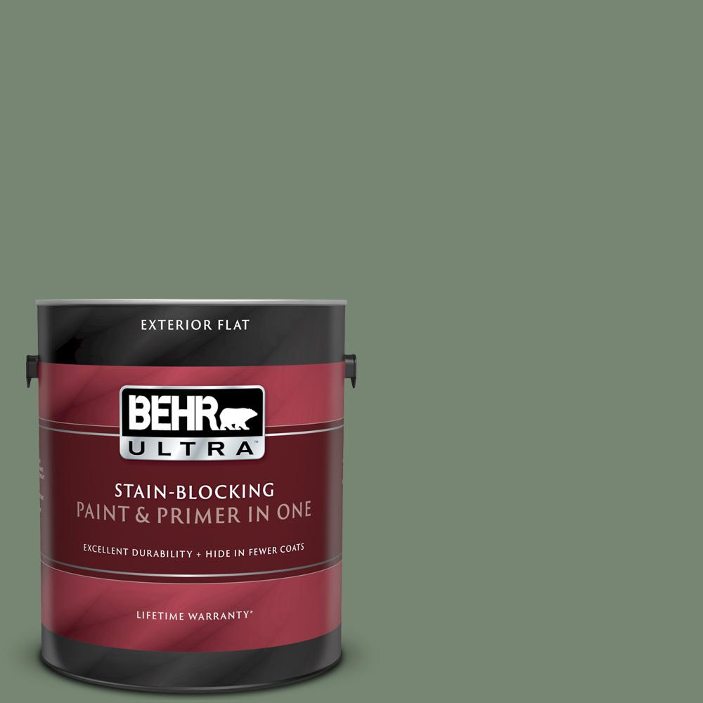 Reviews For Behr Ultra 1 Gal 440f 5 Winter Hedge Flat Exterior Paint And Primer In One 485301 The Home Depot