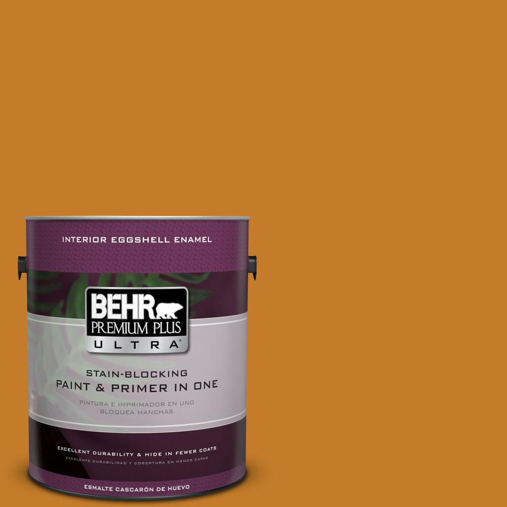 BEHR Premium Plus Ultra 1-gal. #S-H-290 Exotic Honey Eggshell Enamel Interior Paint