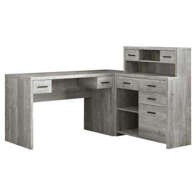 Jasmine 2-Piece Grey Computer Desk