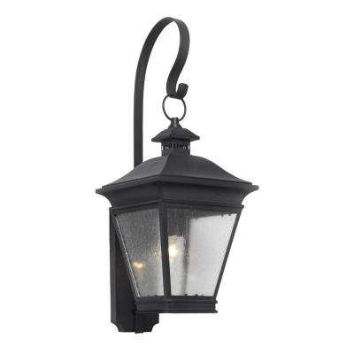 Reynolds 1 Light Wall Mount Outdoor Charcoal Sconce