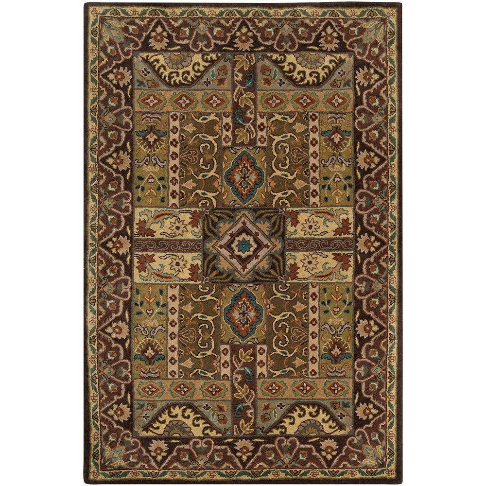 Justica Dark Brown 4 ft. x 6 ft. Area Rug
