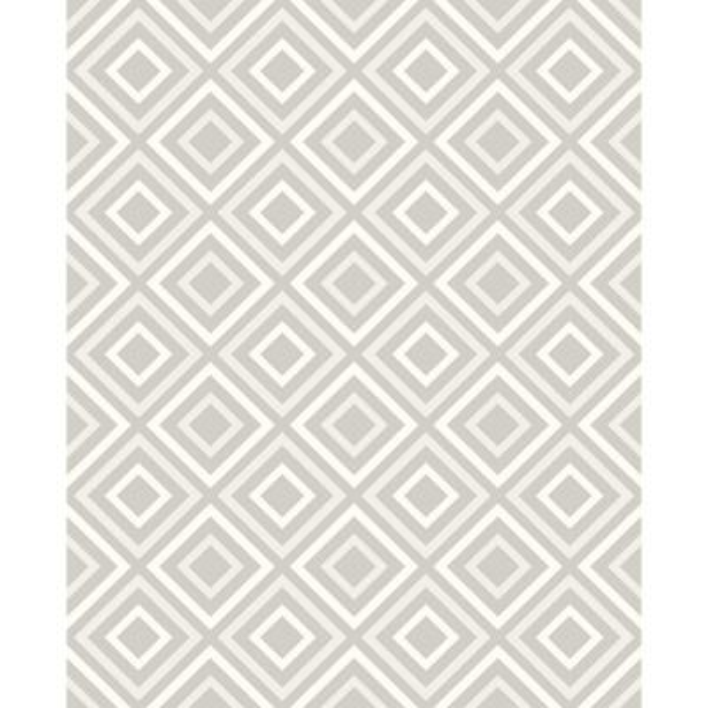 8 in. x 10 in. Horus Silver Diamond Geo Wallpaper Sample