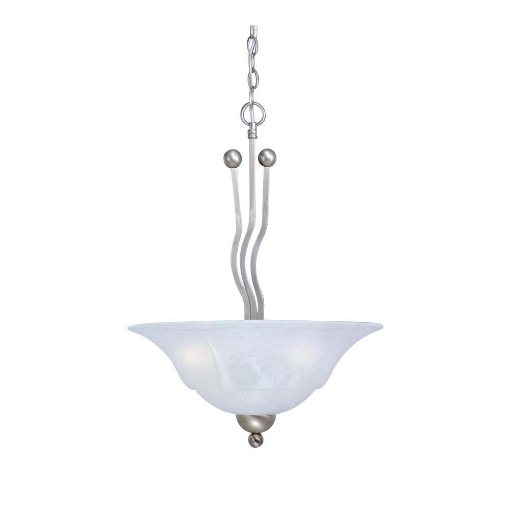 Filament Design Concord 3-Light Brushed Nickel Pendant