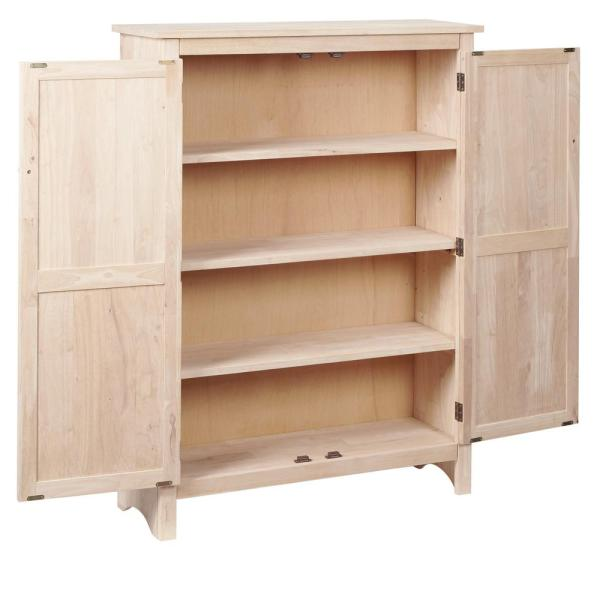 Solid Wood Pantry In Unfinished