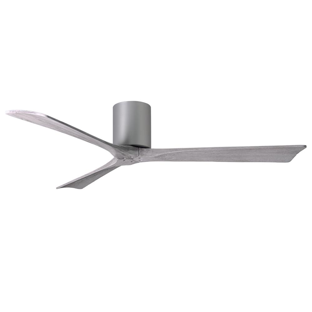 Atlas Irene 60 in. Indoor/Outdoor Brushed Nickel Ceiling Fan with Remote Control and Wall Control