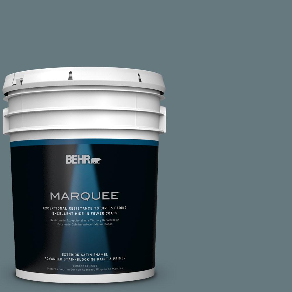 5-gal. #BXC-81 Crater Lake Satin Enamel Exterior Paint