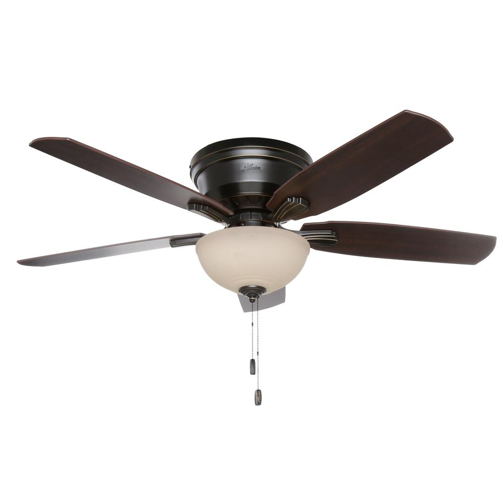 Extremely Large Ceiling Fan: Hunter Princeton 52 In. Indoor Low Profile Basque Black