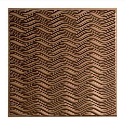 Current - 2 ft. x 2 ft. Lay-in Ceiling Tile in Argent Bronze