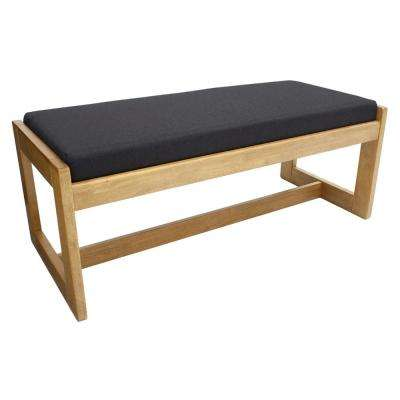Belcino Medium Oak/Black Double Seat Bench