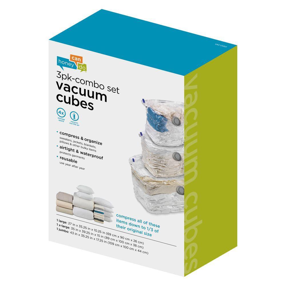 3-Pack Cubes Combo Vacuum Set