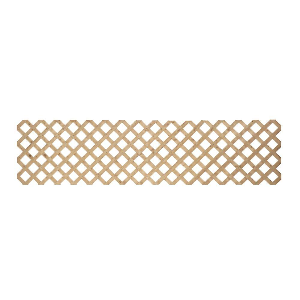 0.5 in. x 24 in. x 8 ft. Pressure Treated Wood Lattice-127740 - The ...