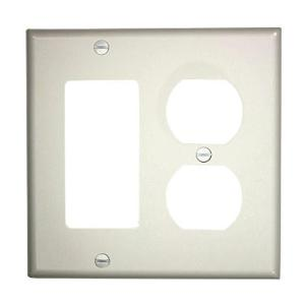 2gang standard size 1duplex receptacle 1decora nylon combination wall plate