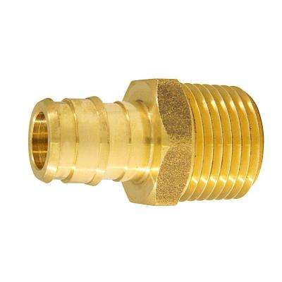 1/2 in. Brass PEX-A Expansion Barb x 1/2 in. MNPT Male Adapter (10-Pack)
