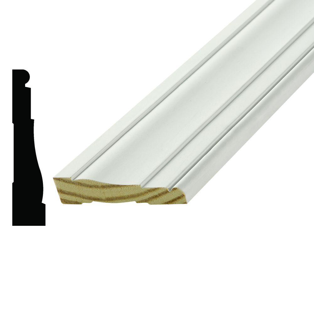 Alexandria Moulding WM 445 11/16 in. x 3-1/4 in. Primed Pine Finger-Jointed Casing