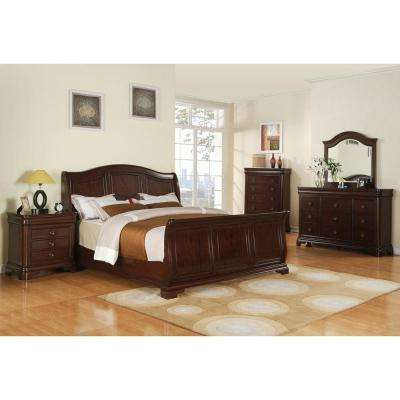 Corolla 5 Piece Bedroom Suite (King Bed, Dresser, Mirror, Chest And