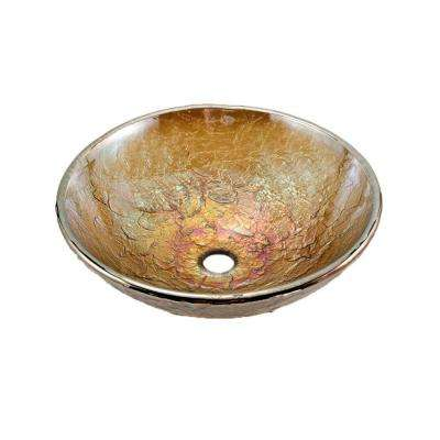 16 in. Vessel Sink in Green Reflections