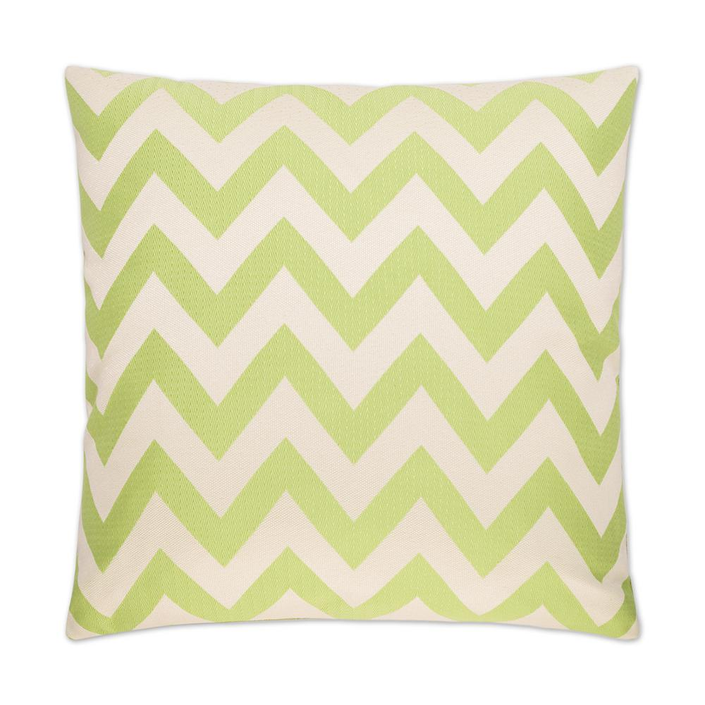 Chevron Chic Green Feather Down 24 in. x 24 in. Standard