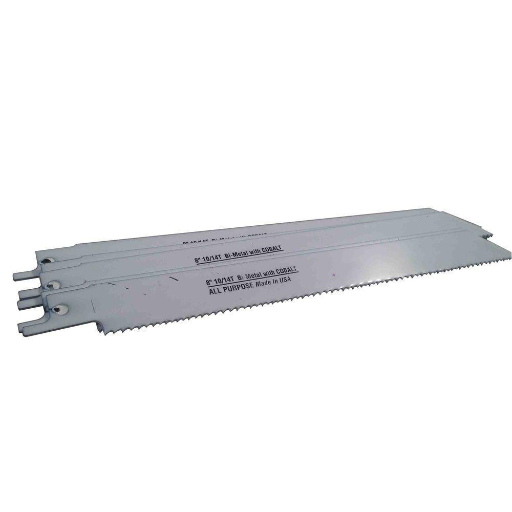 8 in. x 3/4 in. x 0.035 in. 10/14 Teeth per in. All-Purpose Cutting Bi-Metal Reciprocating Saw Blade (5-Pack)