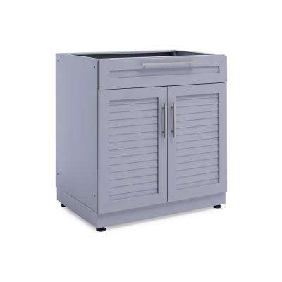 Coastal Gray 32 in. Bar 32 in. W x 36.5 in. H x 23 in. D Outdoor Kitchen Cabinet
